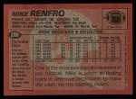 1983 Topps #280  Mike Renfro  Back Thumbnail