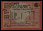 1983 Topps #287  Eric Harris  Back Thumbnail