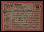 1983 Topps #265  Don Latimer  Back Thumbnail