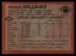 1983 Topps #243  Reggie Williams  Back Thumbnail