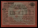 1983 Topps #320  Joe Rose  Back Thumbnail