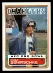1983 Topps #371  Rolf Benirschke  Front Thumbnail