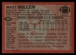 1983 Topps #305  Matt Millen  Back Thumbnail