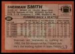 1983 Topps #391  Sherman Smith  Back Thumbnail