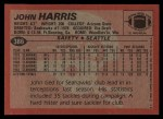 1983 Topps #386  John Harris  Back Thumbnail