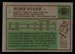 1984 Topps #19  Rohn Stark  Back Thumbnail