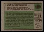 1984 Topps #51  Joe DeLamielleure  Back Thumbnail