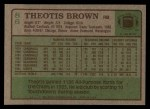 1984 Topps #86  Theotis Brown  Back Thumbnail