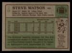 1984 Topps #70  Steve Watson  Back Thumbnail