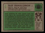 1984 Topps #13  Ray Donaldson  Back Thumbnail