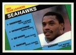 1984 Topps #188   -  Curt Warner / Steve Largent / Kenny Easley / Jacob Green / Bruce Scholtz Seahawks Leaders Front Thumbnail