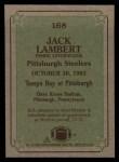 1984 Topps #168   -  Jack Lambert Instant Reply Back Thumbnail