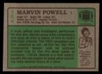 1984 Topps #154  Marvin Powell  Back Thumbnail