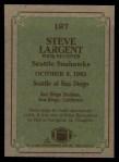 1984 Topps #197   -  Steve Largent Instant Reply Back Thumbnail