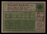 1984 Topps #211  Stacey Bailey  Back Thumbnail