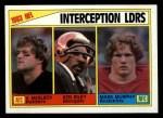1984 Topps #206   -  Vann McElroy / Ken Riley / Mark Murphy Interception Leaders Front Thumbnail