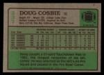 1984 Topps #237  Doug Cosbie  Back Thumbnail