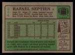1984 Topps #244  Rafael Septien  Back Thumbnail