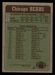 1984 Topps #221   Bears Leaders Back Thumbnail
