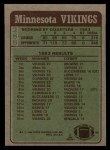 1984 Topps #288   -  Darrin Nelson / John Swain / John Turner / Doug Martin / Scott Studwell   Vikings Leaders Back Thumbnail