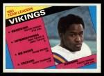 1984 Topps #288   -  Darrin Nelson / John Swain / John Turner / Doug Martin / Scott Studwell   Vikings Leaders Front Thumbnail