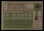 1984 Topps #217  Mick Luckhurst  Back Thumbnail