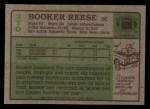 1984 Topps #370  Booker Reese  Back Thumbnail