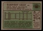 1984 Topps #315  Earnest Gray  Back Thumbnail