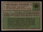 1984 Topps #328  Michael Haddix  Back Thumbnail