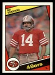1984 Topps #362  Ray Wersching  Front Thumbnail