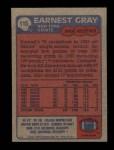1985 Topps #115  Earnest Gray  Back Thumbnail