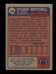 1985 Topps #144  Stump Mitchell  Back Thumbnail