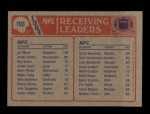 1985 Topps #193   -  Ozzie Newsome / Art Monk Receiving Leaders Back Thumbnail