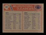 1985 Topps #197   -  Jim Arnold / Brian Hansen Punting Leaders Back Thumbnail