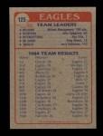 1985 Topps #125   Eagles Leaders Back Thumbnail