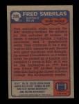 1985 Topps #206  Fred Smerlas  Back Thumbnail