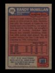 1985 Topps #265  Randy McMillan  Back Thumbnail
