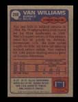1985 Topps #208  Van Williams  Back Thumbnail