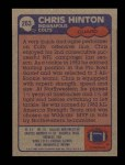 1985 Topps #263  Chris Hinton  Back Thumbnail