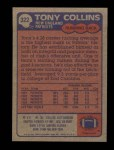 1985 Topps #322  Tony Collins  Back Thumbnail