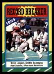 1986 Topps #4  Steve Largent  Front Thumbnail