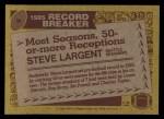 1986 Topps #4  Steve Largent  Back Thumbnail