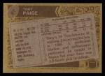 1986 Topps #97  Tony Paige  Back Thumbnail