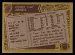 1986 Topps #98  Johnny Lam Jones  Back Thumbnail