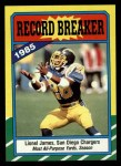1986 Topps #3  Lionel James  Front Thumbnail