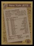 1986 Topps #94   -  Freeman McNeil / Mickey Shuler / Kerry Glenn / Bobby Jackson / Mark Gastineau / Lance Mehl Jets Leaders Back Thumbnail