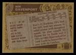 1986 Topps #47  Ron Davenport  Back Thumbnail
