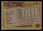 1986 Topps #130  Doug Cosbie  Back Thumbnail