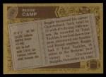 1986 Topps #195  Reggie Camp  Back Thumbnail