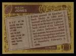 1986 Topps #118  Rulon Jones  Back Thumbnail